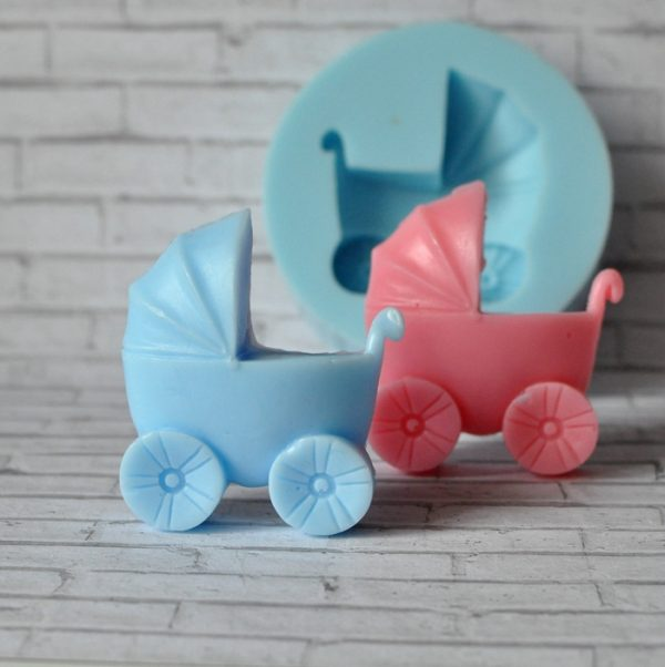 силиконовая форма коляска