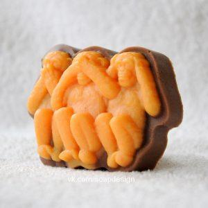 форма для мыла обезьяна