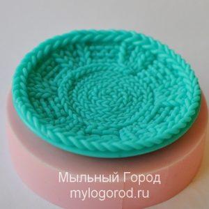 силиконовая форма вязаная тарелка