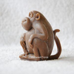 форма для мыла и свечей обезьяна