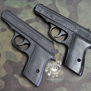 форма для мыла пистолет