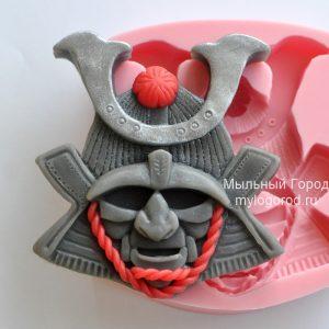 форма для мыла шлем самурая