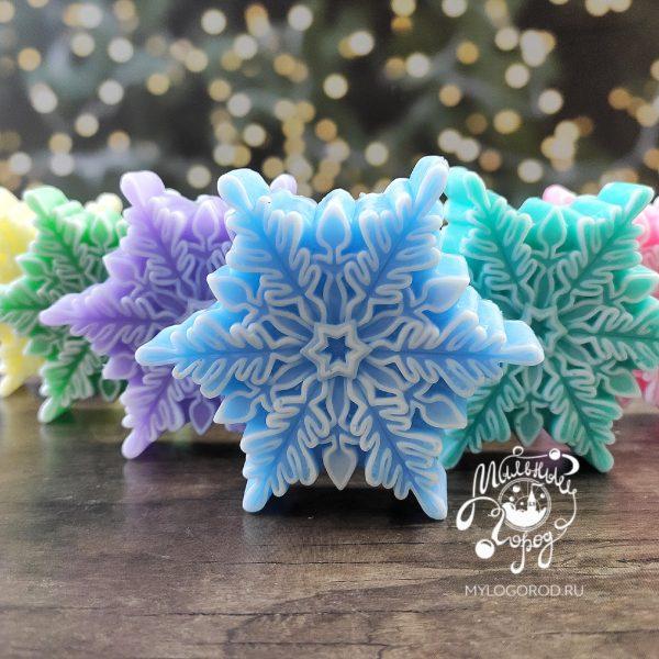 форма для свечей снежинка
