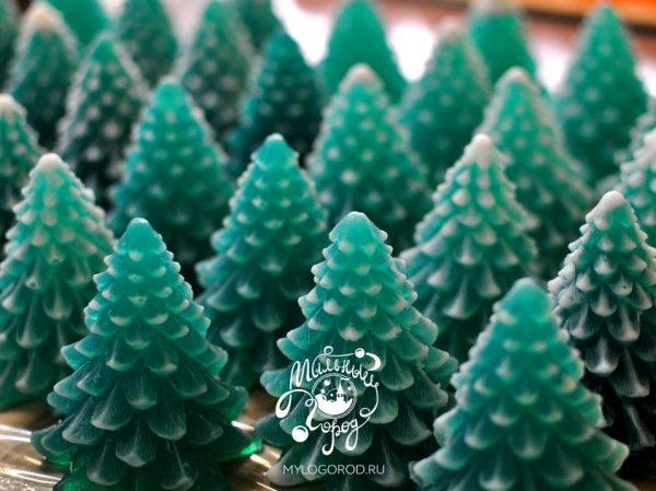 форма для мыла и свечей елка