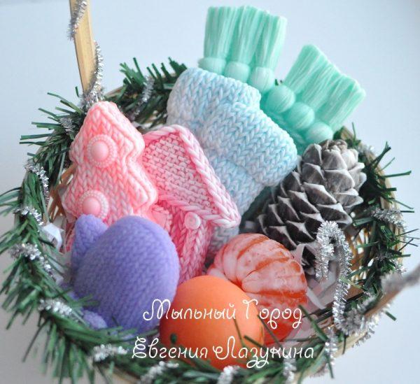 вязаное мыло