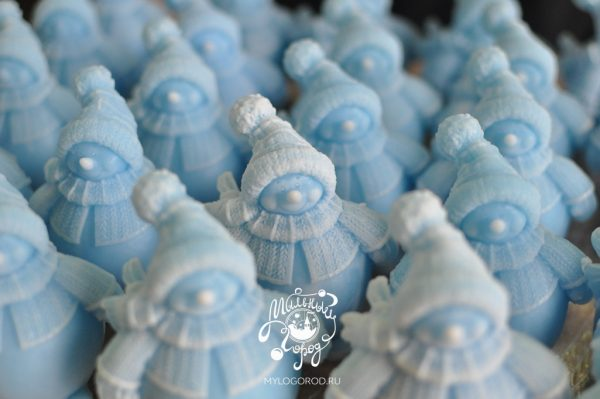 форма для мыла снеговик пухлик