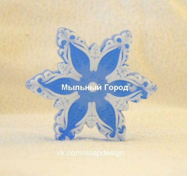 форма для мыла и свечей снежинка