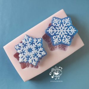 форма для мыла снежинки