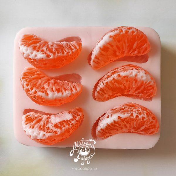 форма дольки апельсина