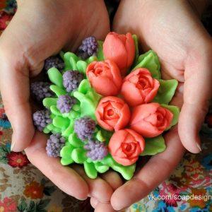форма для мыла тюльпаны и мускари