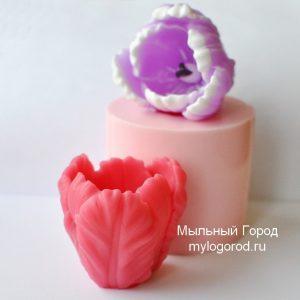 форма для мыла бутон ьюльпана большой