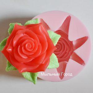 форма для мыла роза с листиком